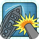 Doodle Battleships Free - Fun Shooting Warship Adventure Battleship Game mobile app icon