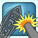 Doodle Battleships Free - Fun Shooting Warship Adventure Battleship Game mobile app icon